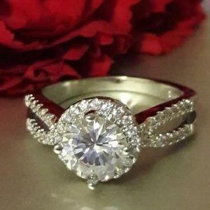 925 stamped sterling silver engagement ring